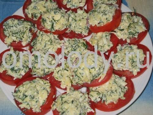 Tomatoes stuffed with cheese