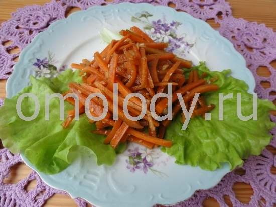 Carrot salad with spices