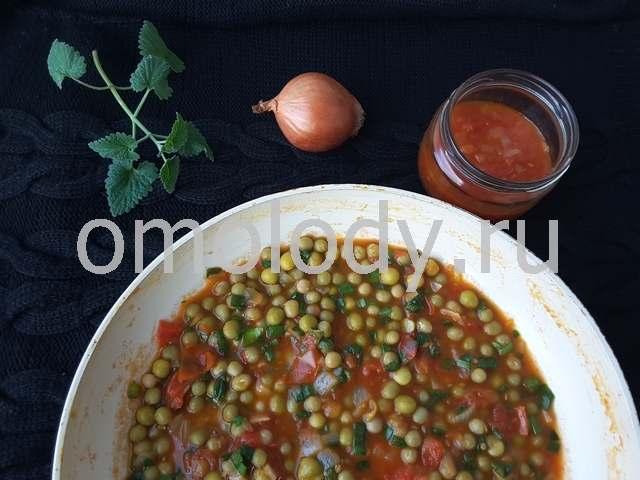Тофу с овощами и грибами
