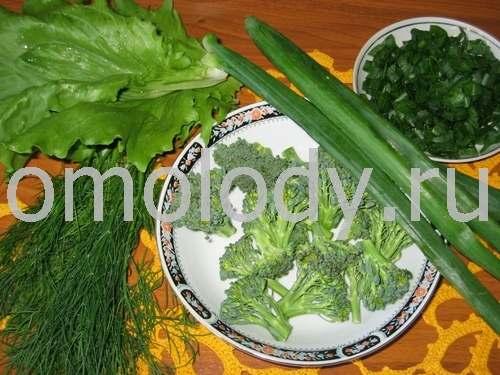 Тофу жареный с брокколи