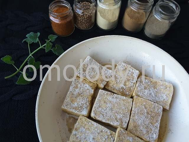 жареный тофу со специями