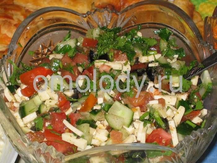 Салат из тофу с овощами