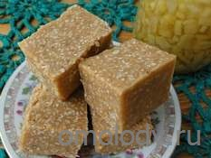 Кунжутные пирожные с корицей и сухим молоком