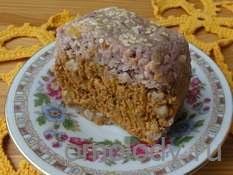 Морковно-финиковый кекс с курагой