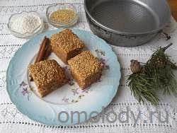 Кекс из саго с корицей и кунжутом