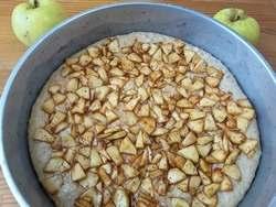 Овсяный кекс с яблоками, из жмыха от овсяного киселя