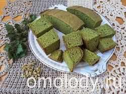 Кексы и маффины из крапивы с кардамоном. Зеленая выпечка