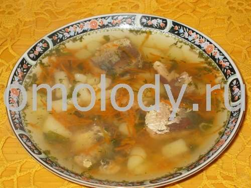 Fish soup, with salmon