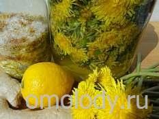 лимонад, напиток из одуванчиков
