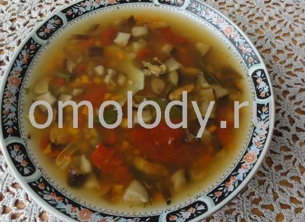 суп с грибами шиитаке мидиями