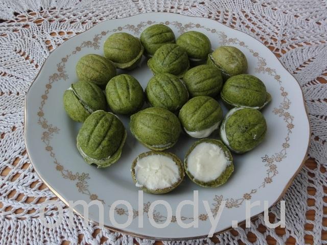 печенье из яснотки, зеленое тесто для печенья